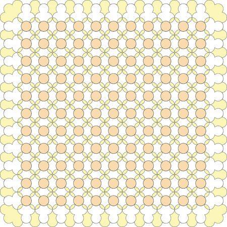 yellow line: Abstract yellow line art tile Illustration