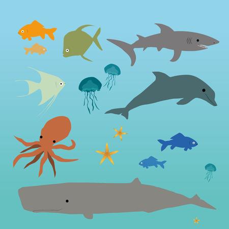 gills: Ocean creatures Illustration