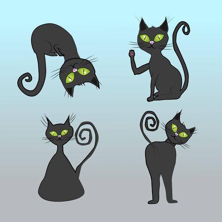 Black cats. Фото со стока - 76963714