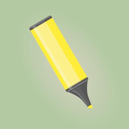 Een gele markering