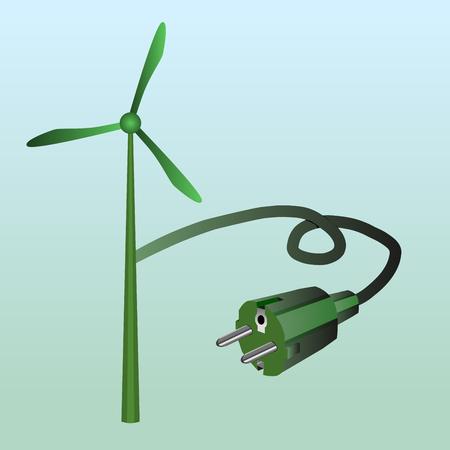 Windmill and European plug