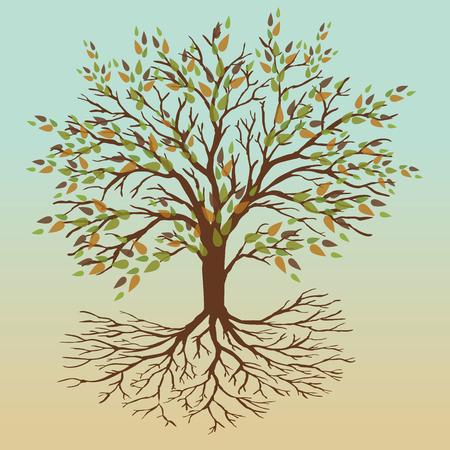 Autumn tree of life Stock Illustratie