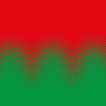 Colorful halftone gradient waves pattern.
