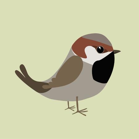 Cute sparrow Иллюстрация