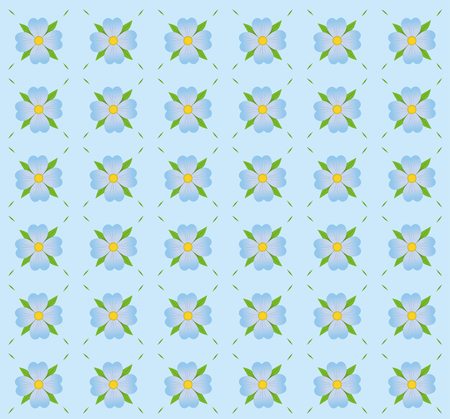 a pattern of blue flowers on blue background.