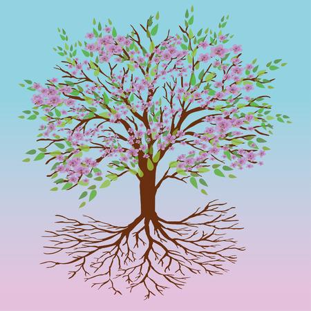 Tree of life spring version Иллюстрация