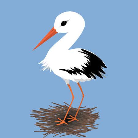 Cute stork vector