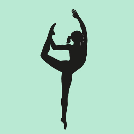 Dancing girl silhouette Иллюстрация