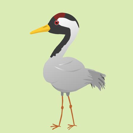 Cute crane vector illustration