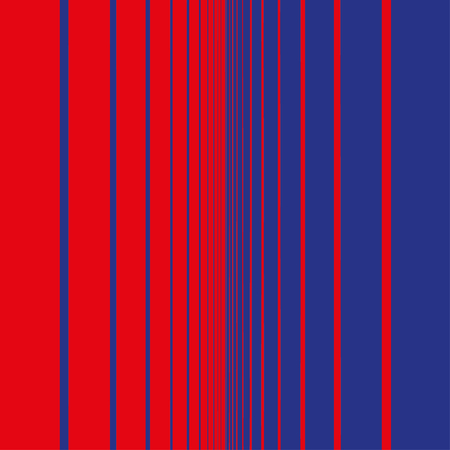 Abstract fade from red to blue with vertical bars Stock Illustratie