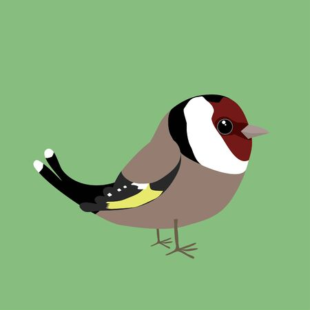 Cute goldfinch Иллюстрация