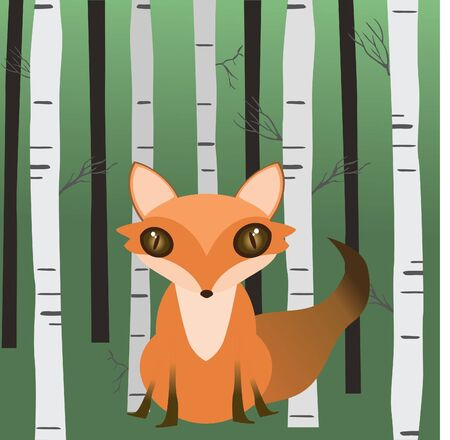 A fox in the woods