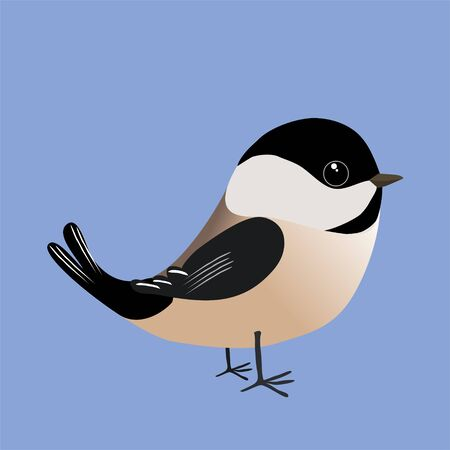 A chickadee comic illustration