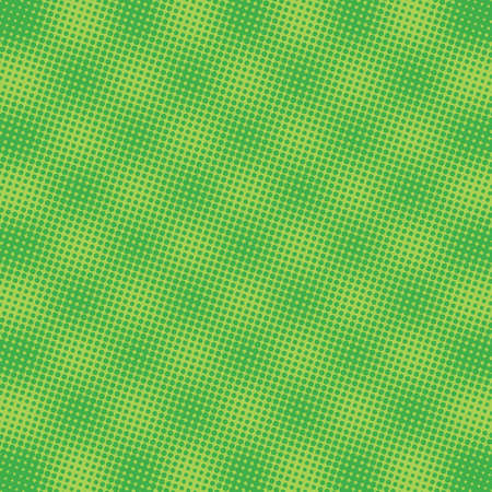 A green abstract background with a color halftone raster effect 矢量图像