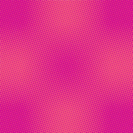 A pink abstract background with a color halftone raster effect