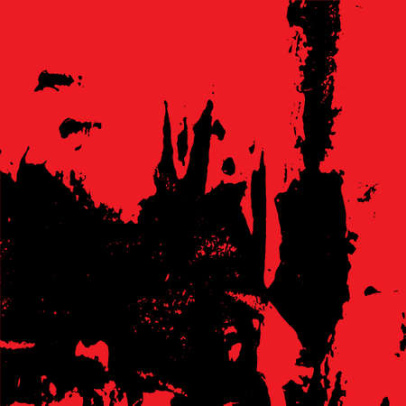 Abstract grunge background in red and black looks like an old wall 矢量图像