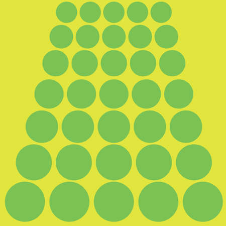 Pattern with green circles and a yellow background
