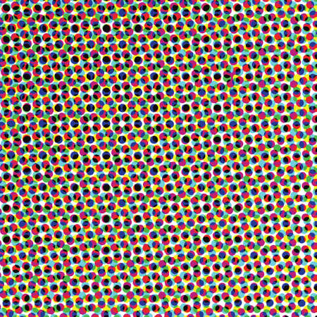 A close up af a color halftone image in vector. Looks like confetti.