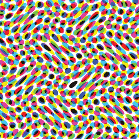 A close up of a color halftone image in vector with waves. Looks like confetti. Vektorové ilustrace