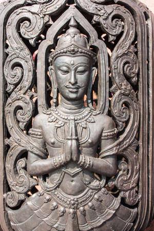 thai tattoo: Thai arts angel,  pattern, it name Tep-Panom.