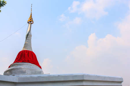 ko: The symbol of Wat Ko Kret in Nonthaburi, Thailand Stock Photo