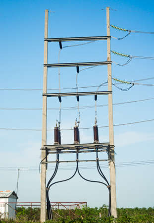three phase: Equipment of high-voltage  3-phase substation