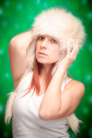 Beautiful christmas woman photo