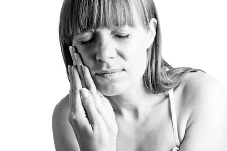 Attractive woman suffers from toothaches Stock Photo - 17366868