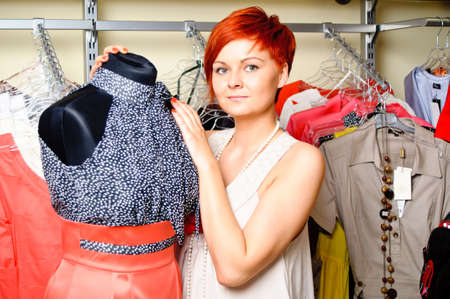 woman in clothing store Stock Photo - 17364834
