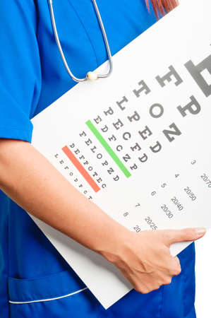 doctor and test for eye examination