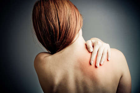 nude woman back: back pain