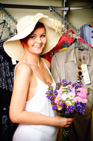 woman in clothing store Stock Photo - 17364828