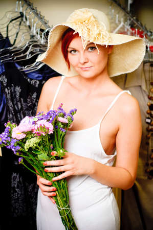 woman in clothing store Stock Photo - 17364816