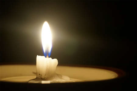 glimmer: Candlelight Stock Photo