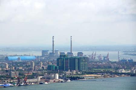 Regulating Island aerial landscape view