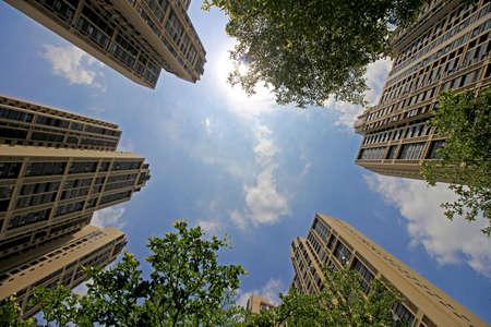 High building encircling Фото со стока