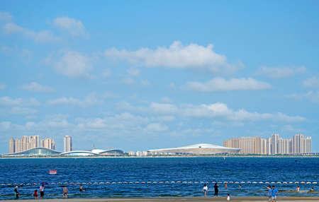 The opposite shore of the sea Banco de Imagens