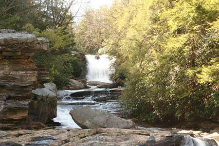 Swallow Falls Stockfoto