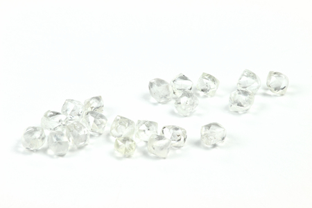 rough diamond: Rough diamonds isolated on white background