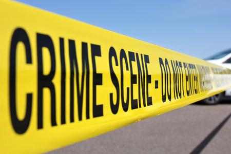Linea di polizia alla scena del crimine Archivio Fotografico - 50537976