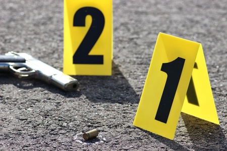 felony: id tents at crime scene after gunfight