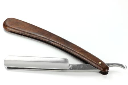 straight razor isolated on white background
