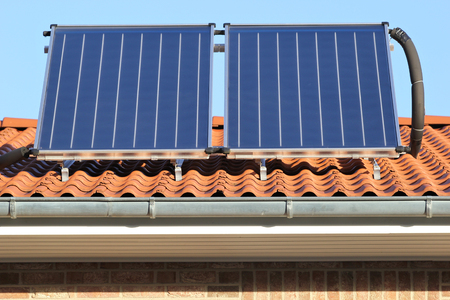 solar panels: building-mounted solar thermal collectors
