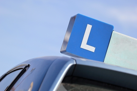 Dutch driving school car sign