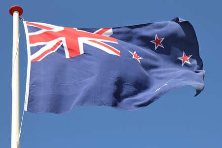 bandera de nueva zelanda: Bandera de Nueva Zelanda bandera ondeando al viento