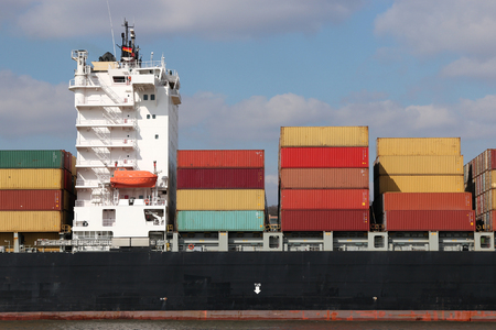 foreign trade: Super Structures of a large container ship