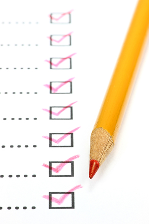 completed: Completed checklist Stock Photo