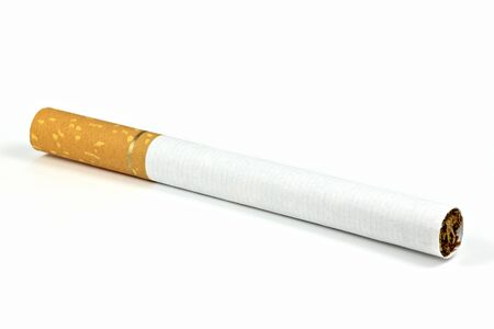 tipped: filter tipped cigarette isolated on white background Stock Photo