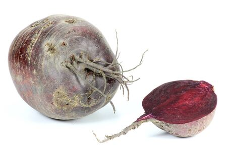 mellowness: beetroot isolated on white background Stock Photo