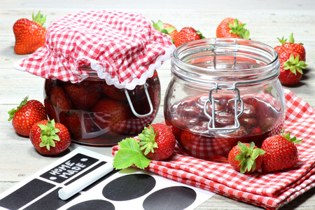 fresas enlatados en casa